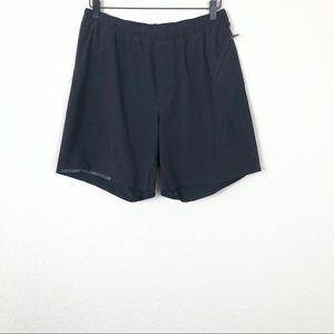 Lululemon Mens Black Lined Shorts sz L